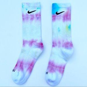 Nike Custom Tie Dye Dri Fit Crew Socks Unisex M